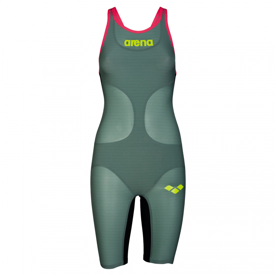 Arena Carbon Air Open Back Suit - Green