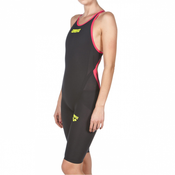 Dark Grey Red Arena Carbon Flex VX Open Back Suit