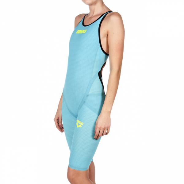 Turquoise Arena Carbon Flex VX Open Back Suit