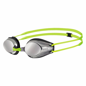 Fluo Yellow Arena Tracks Mirrored JUNIOR Goggles