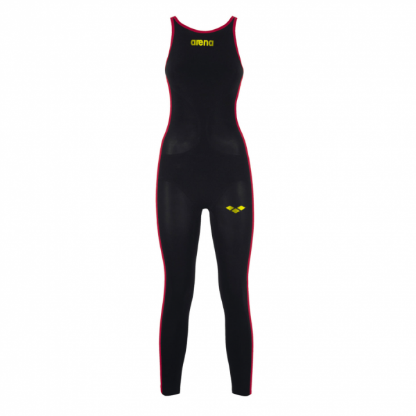 FINA APPROVED Arena Ladies Open Water Swim Suit Black Yellow