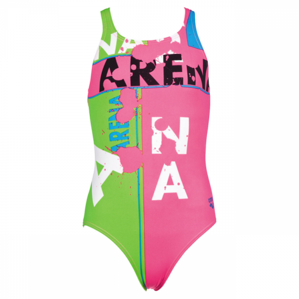 Arena Girls Pink Swimsuit - Woodblock