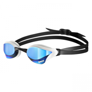 Blue White Arena Cobra Core Mirrored Goggles