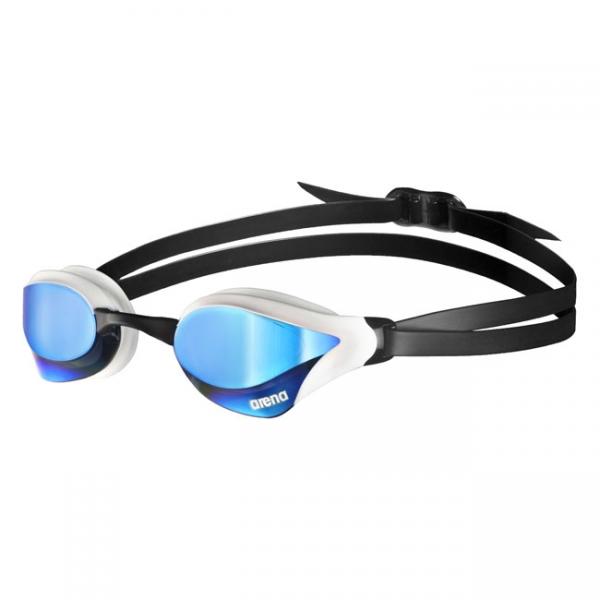 Blue White Arena Cobra Core Mirrored Goggles