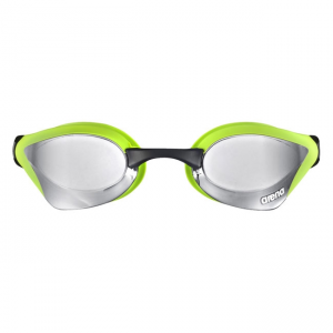 Arena Cobra Core Mirror Racing Goggles - Silver / Green