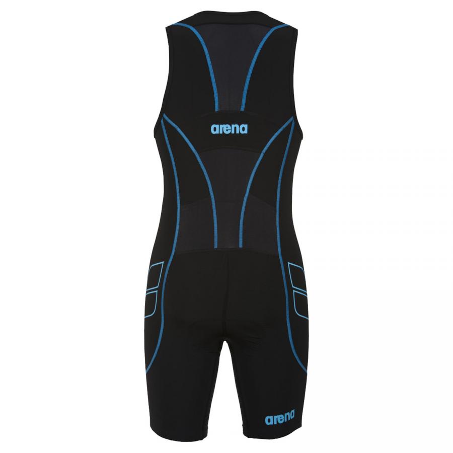 Arena Men's ST Black Trisuit - Front Zip