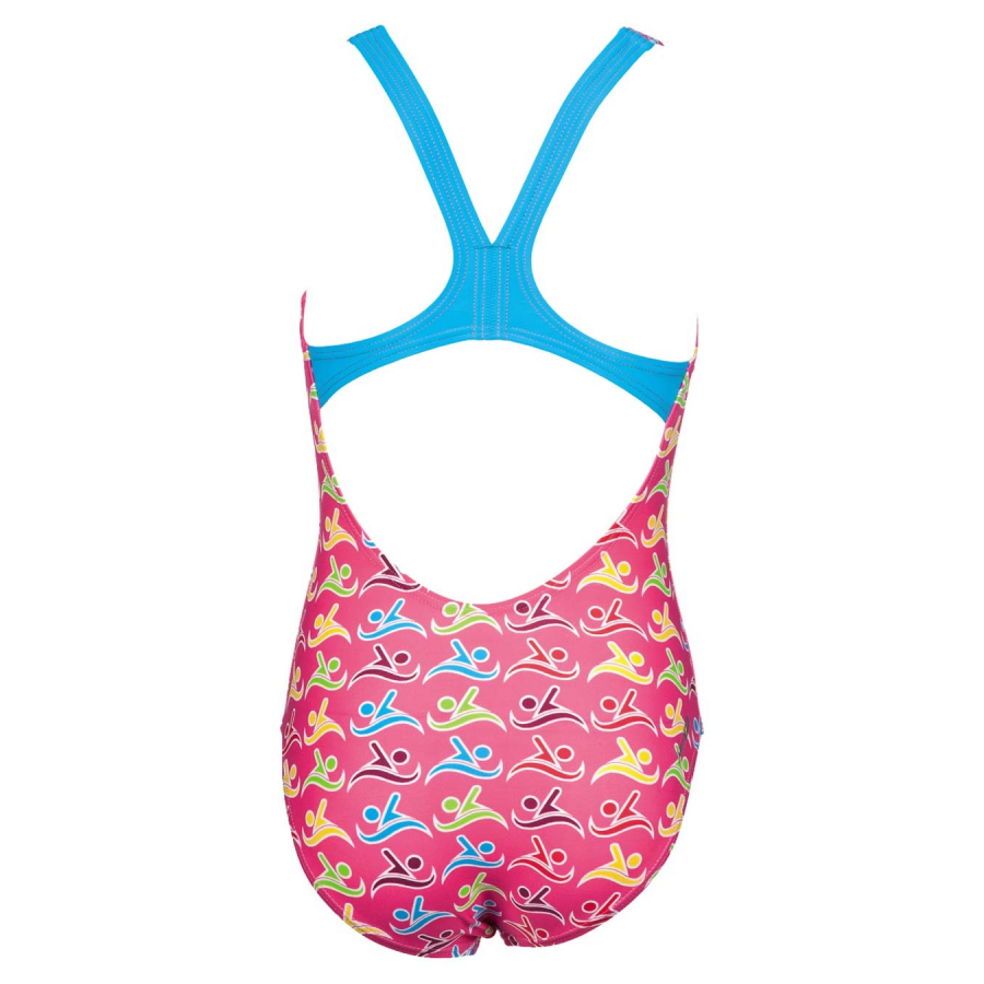 Arena Girls Roller Pink / Multi Swimsuit