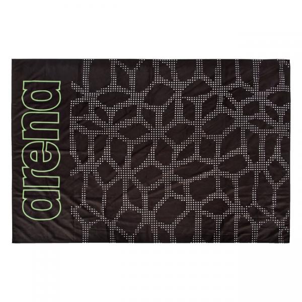Arena Carbonite Microfibre Towel - Black