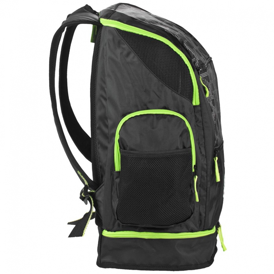 Arena Spiky 2 LARGE Backpack - X-PIVOT Black / Fluo Green