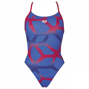 Arena Spider Booster Back Swimsuit - Blue / Red