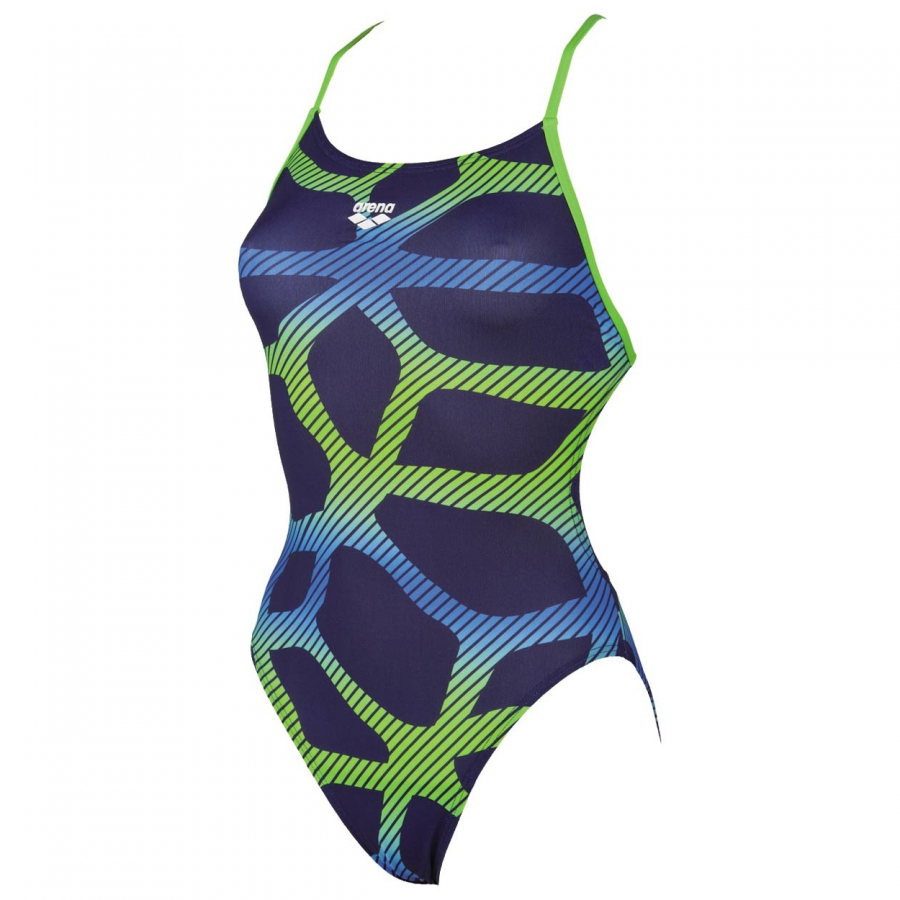 Arena Spider Booster Back Swimsuit - Blue / Green