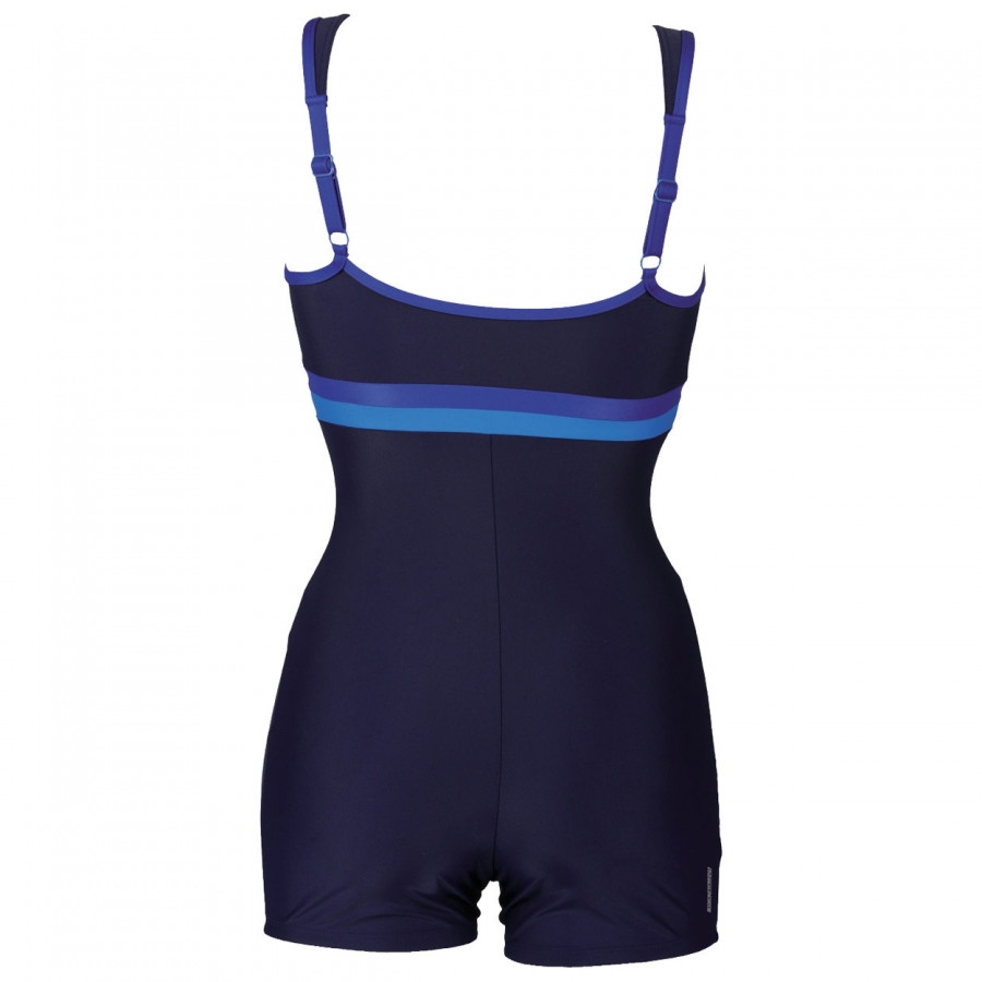 Ladies Celebrity Blue Legged Swimsuit