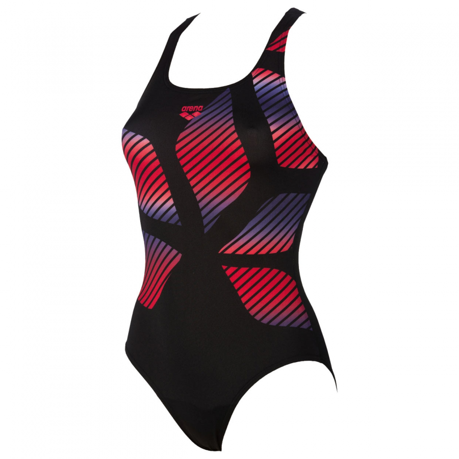 Arena Spider Placed Swimsuit - Black / Red