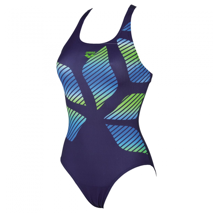 Arena Spider Placed Swimsuit - Blue / Green