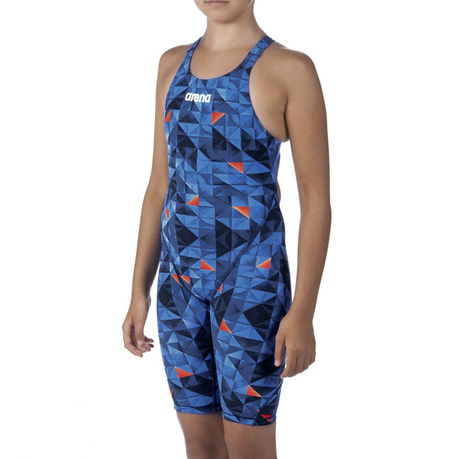 LIMITED EDITION Arena JUNIOR ST 2.0 Suit - Turquoise / Orange
