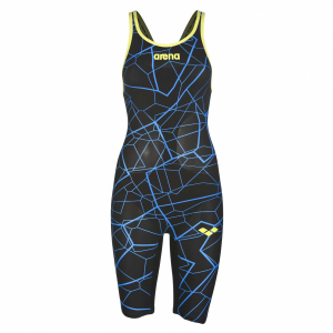 Arena Limited Edition Carbon Air Open Back Suit - Black Blue
