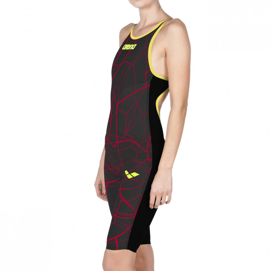 Arena Limited Edition Carbon Air Open Back Suit - Black / Red