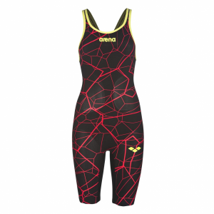 Arena Limited Edition Carbon Air Open Back Suit - Black Red