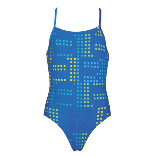 Arena Girls Neon Blue Swimsuit