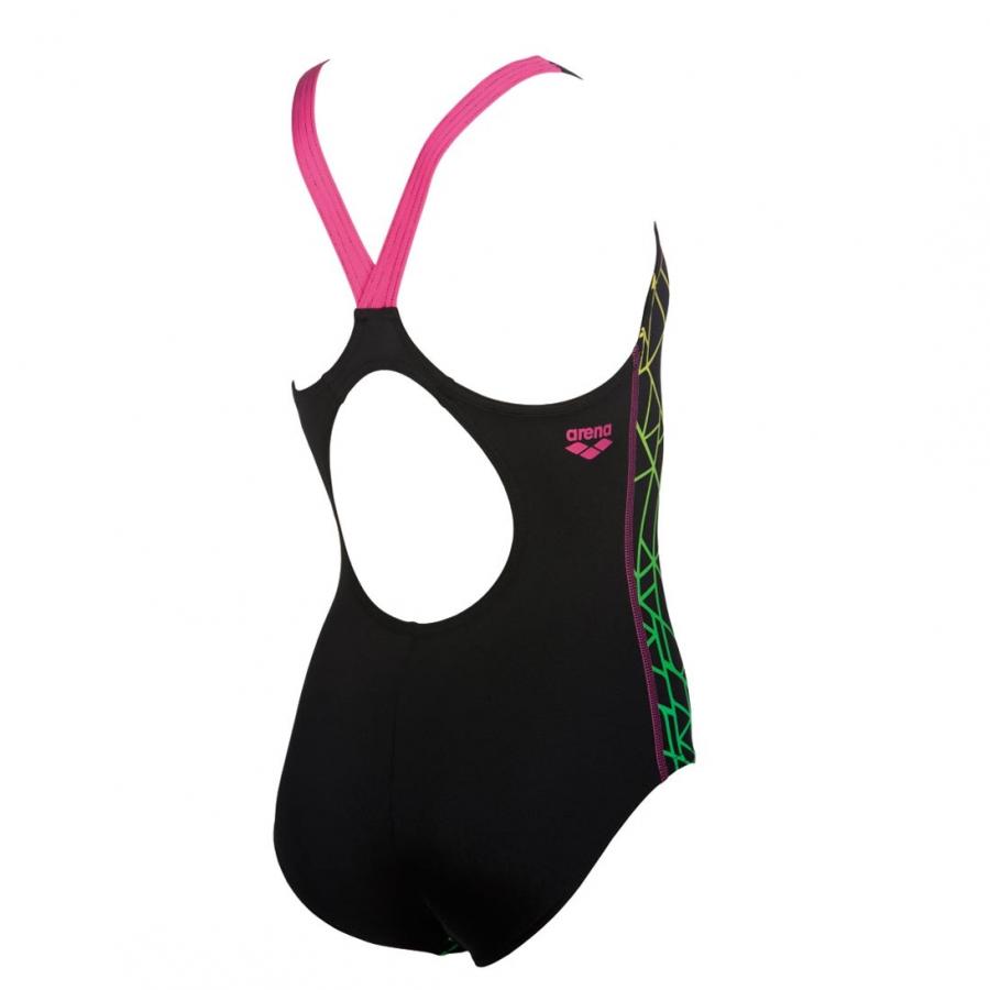 Arena Girls Reticulum Black Swimsuit