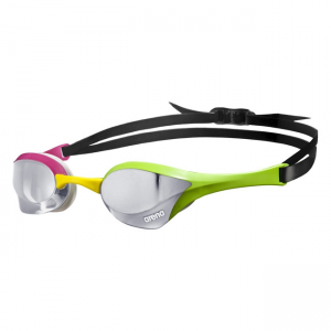 Green Pink Arena Cobra Ultra Mirrored Goggles