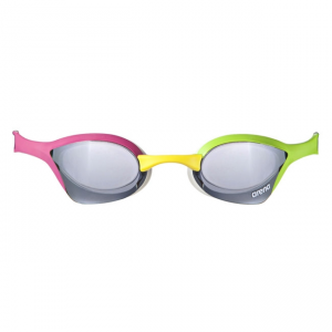 Arena Cobra Ultra Mirror Racing Goggles - Silver / Green / Pink