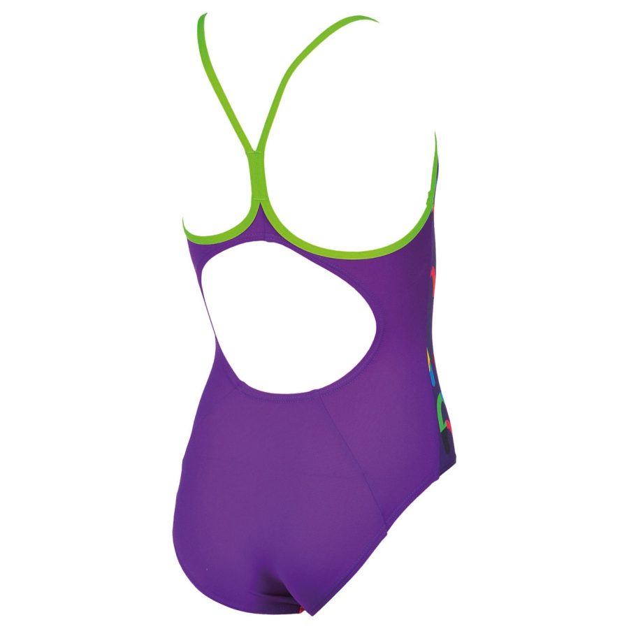 Arena Log Girls Purple Swimsuit