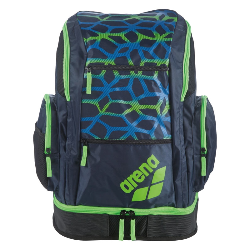 b018a4d9f8d7 Arena Spiky 2 LARGE Backpack - SPIDER Navy Blue / Green