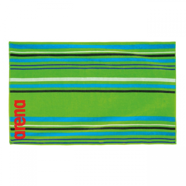 Big Multistripes Towel - Green
