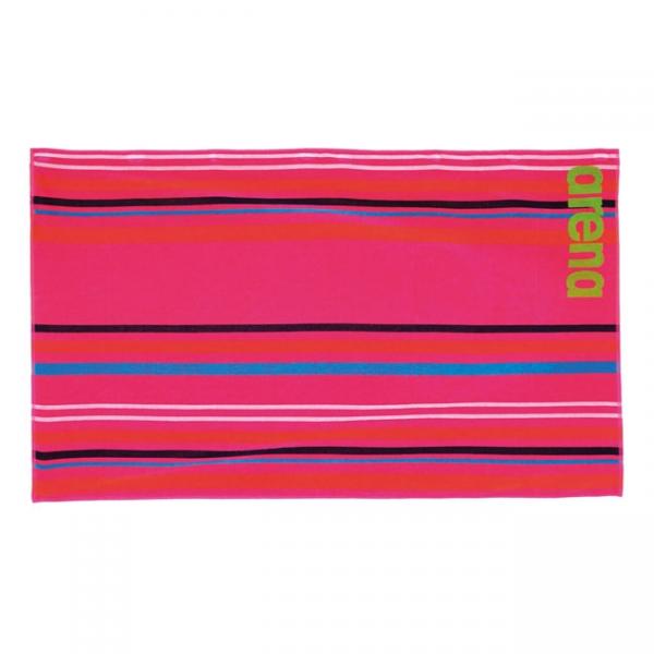 Big Multistripes Towel - Pink