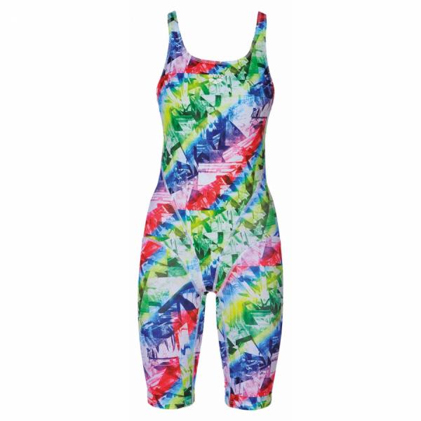Arena Glitch Legged Multicoloured Swimsuit