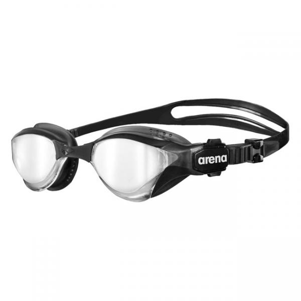 Arena Cobra Tri Mirror Goggles Silver Black