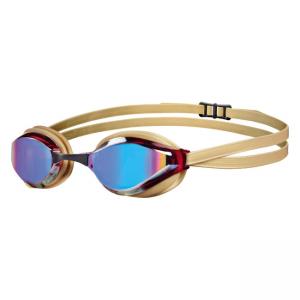 Arena Python Gold Mirror Goggles