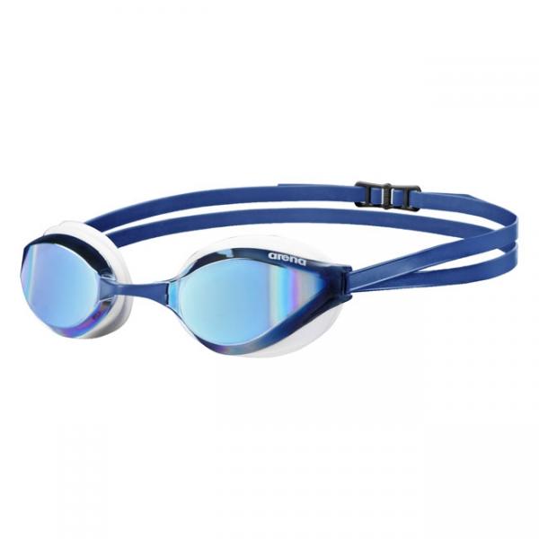 Blue white Arena Python Mirror Goggles