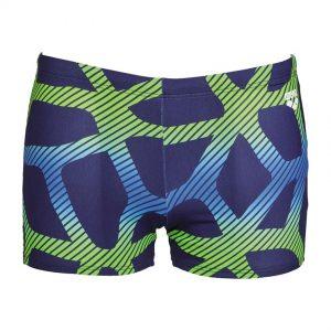 Arena Mens Spider Swim Shorts Blue Green