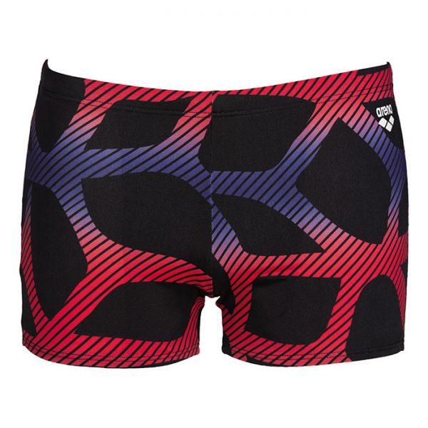 Arena Mens Spider Swim Shorts Black Red Blue Front