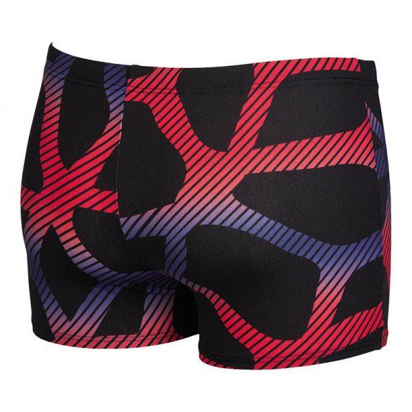Arena Mens Spider Swim Shorts Black Red Blue Back