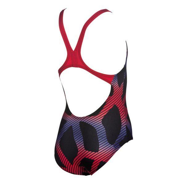 Arena Spider Girls Swimsuit Black Red