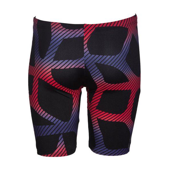 Arena Spider Boy's Black Red Swim Jammers