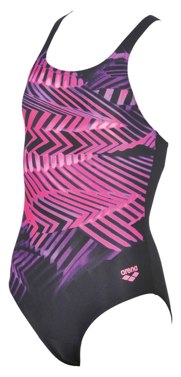 Arena Spike Girls Swimsuit Black Pink