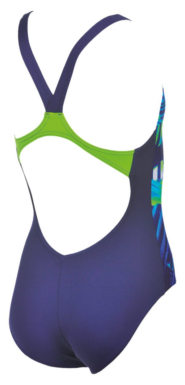 Arena Spike Girls Swimsuit Blue Green