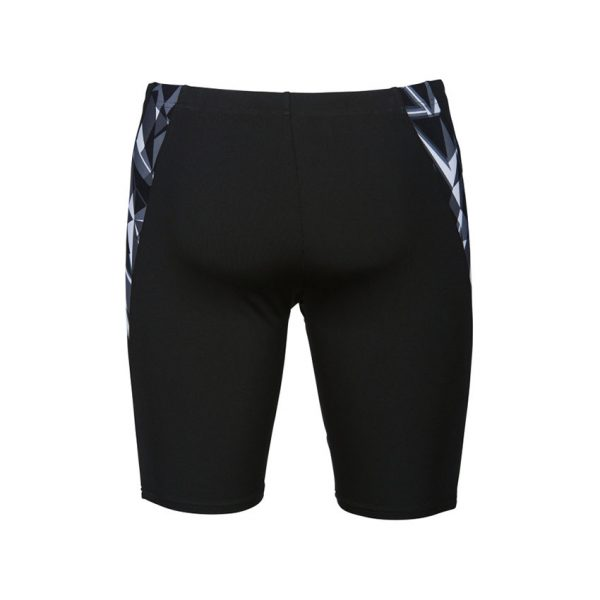 Arena Mens Swim Jammer Black White Shattered Glass