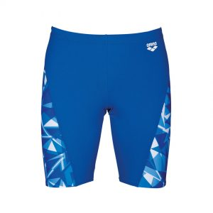Arena Mens Swim Jammer Blue Shattered Glass