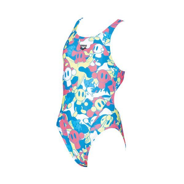 Arena CamoKun Girls Swimsuit - Blue Soft Green