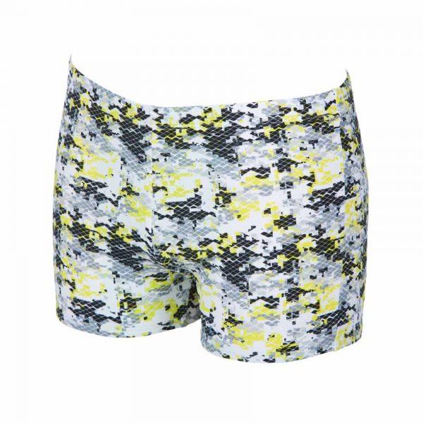 Arena Mens Camouflage Black Yellow Swim Shorts