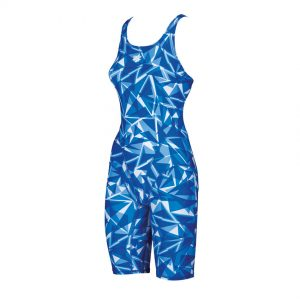 Arena Shattered Blue Legged Swimsuit