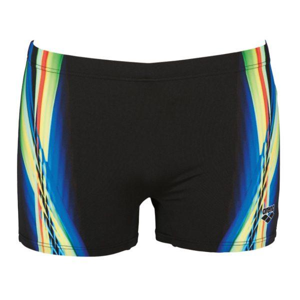 Arena Mens Black Yellow Iridiscent Swim Short