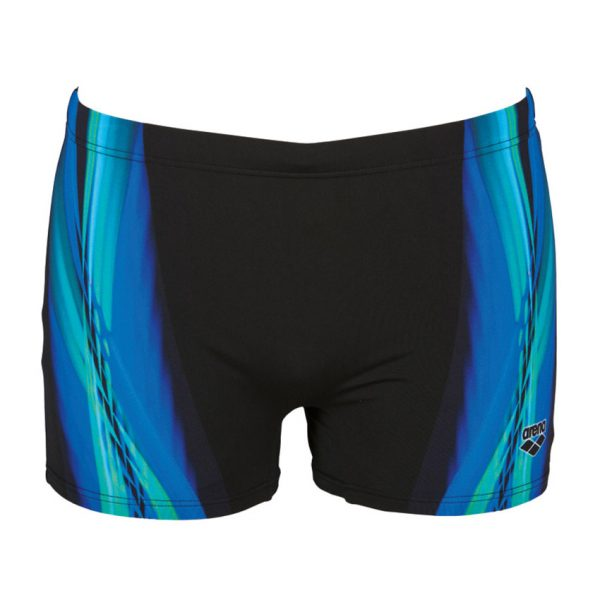 Arena Mens Black Blue Iridiscent Swim Short