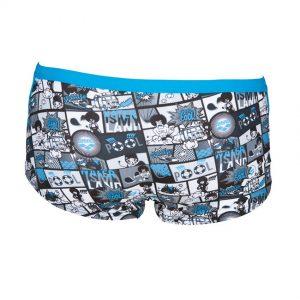 Arena Mens Blue Comics Low Waist Swim Shorts