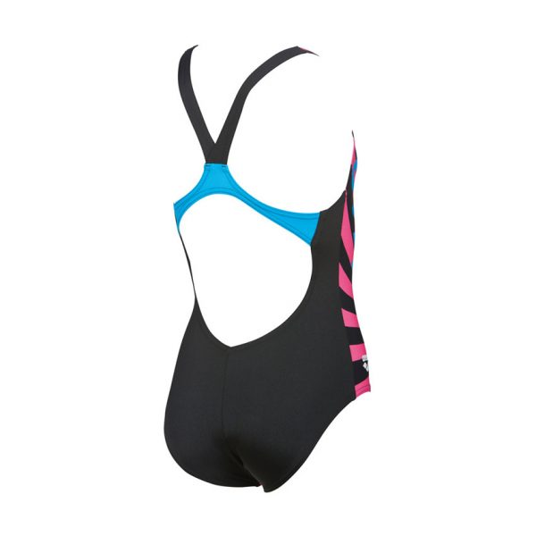 Arena Swim&Roll Girls Swimsuit Black